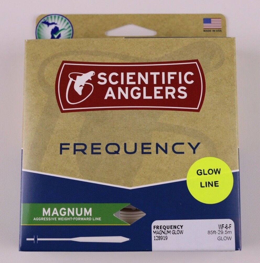 Scientific Anglers Frequency Magnum Glow Fly Line WF6F Free Fast Shipping 128919