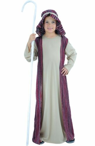 New Boys Shepherd Joseph Nativity Christmas Fancy Dress Costume 5-7 /& 8-10 yrs