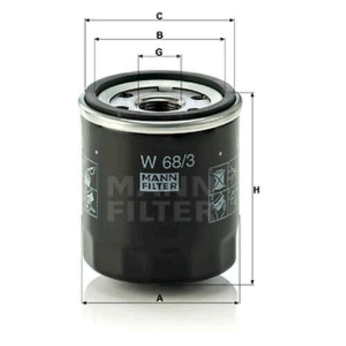 Mann Oil Filter Spin On For Toyota Auris 1.2 1.4 1.6