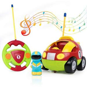 Kid Rc Remote Control Race Car Cartoon Racing Train Toy Gift Red W