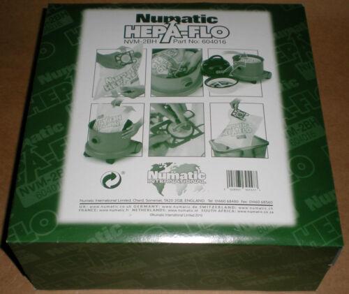 NUMATIC HEPA-FLO NVM-2BH VACUUM CLEANER BAGS 604016 CHARLES GEORGE HARRY 1 BOX