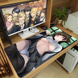 Anime-persona-5-P5-Niijima-Makoto-grandes-Mouse-Pad-Mat-Alfombra-Alfombra-de-juegos-de-teclado
