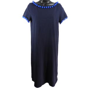 NWT-Boden-Navy-Blue-Short-Sleeve-Knee-Length-Dress-Women-039-s-Size-8R