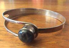 E.GRANIT&CO 925 Sterling  Silber  Labradorit Armreifen Finland Modernist