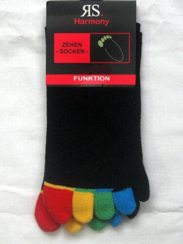 2 paire de chaussettes orteils orteils Chaussette hygiène Chaussettes Noir Coloré Orteils 36-46