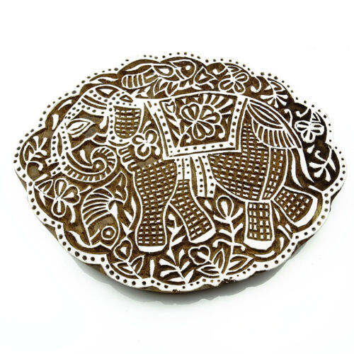 Wooden Printing Blocks Indian Hand Carved Textile Fabric Stamps 7513