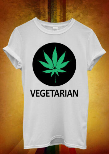 Vegetarian Cannabis Weed Marijuana Men Women Unisex T Shirt Tank Top Vest 308