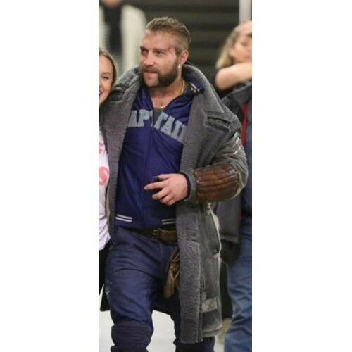 Suicide Squad Jai Courtney Captain Boomerang Faux/Synthetic Leder Coat