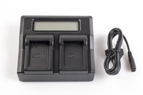 NX300M NX210 vhbw Dual-Ladegerät mit Display für Samsung NX200 Samsung NX300