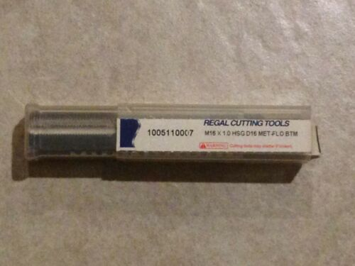 0511K34B Regal Tools. M16 X 1.0 D16 Bottoming Met-Flo Roll Form Tap