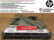HP DL360 G7 2x E5640 32GB 2x 750W MSA50 600GB SSD Storage Configuration