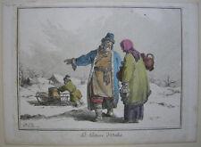 La Laitiere d'Oetha Russland kolor Orig Radierung Jean Bapt. Le Prince 1765