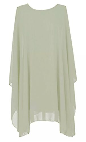 Women/'s Soft Chiffon Holiday Baggy Top Shirt Blouse Tunic Party Beach Plus size