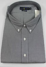 Ralph Lauren Polo Classic Fit Dress Shirt Mens 22 38 39 Black White Purple Pony