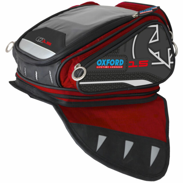 /Black 4Liter OXFORD Q4R Quick Release Motorcycle Tank Bag/