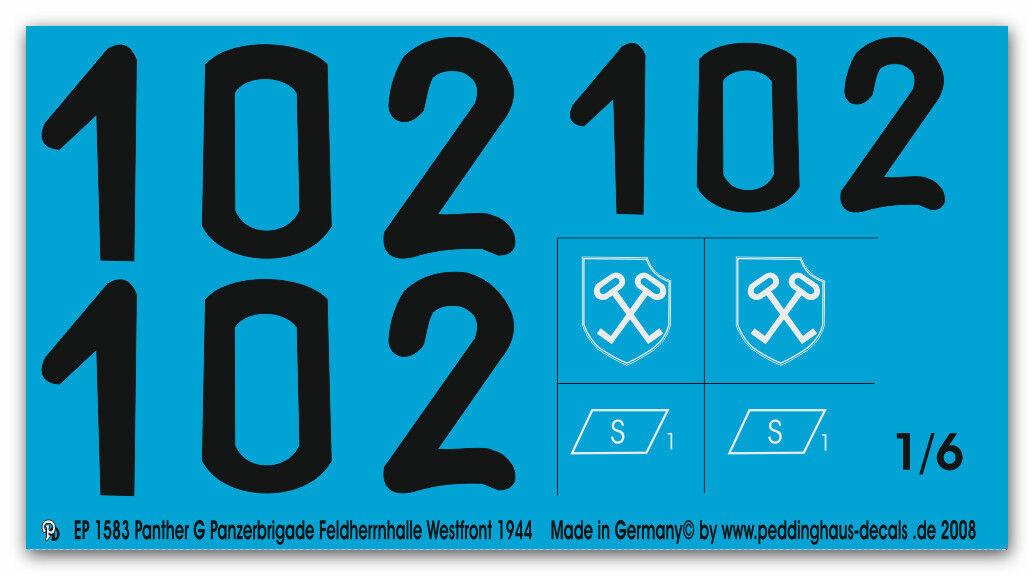 PEDDINGHAUS 1 6 1583 Panther G TRUPPA carri-armati Feldherrnhalle Feldherrnhalle Feldherrnhalle 1944 b56076