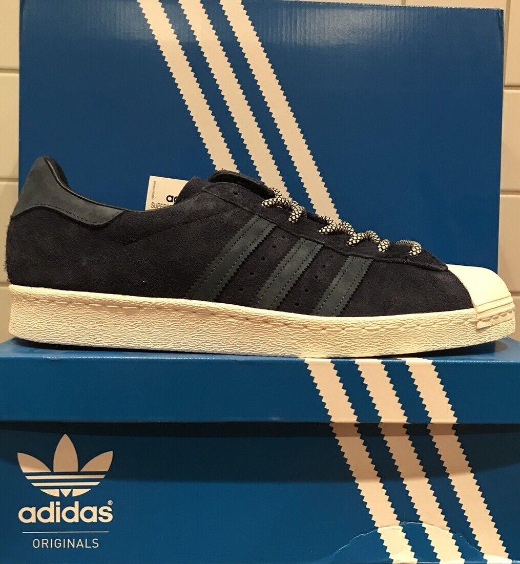 Adidas Superstar 80s Wildleder blau EUR 46 2 3 Retro Klassiker Turnschuhe S76639
