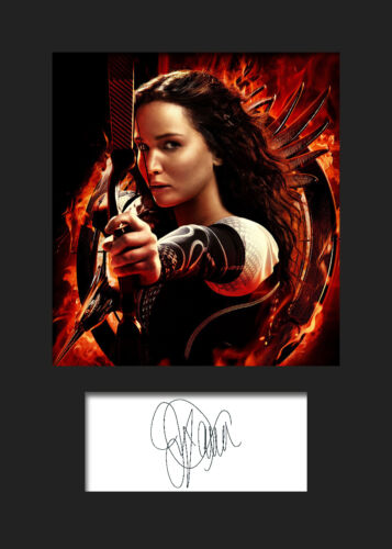 FREE DELIVERY JENNIFER LAWRENCE #4 A5 Signed Mounted Photo Print