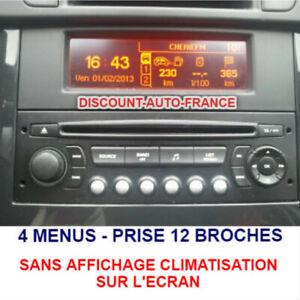 Peugeot-407-Ecran-D-039-Affichage-Rd4-Radio-LCD-Multi-Fonction