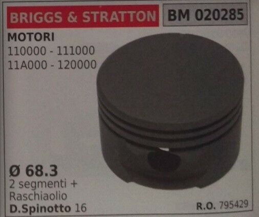 795429 PISTONE COMPLETO MOTORE BRIGGS & STRATTON 110000 1110000 11A000 120000