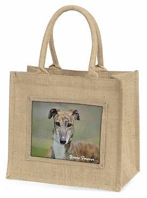 gestromt Greyhound  dir für immer  Große natürliche jute-einkaufstasche