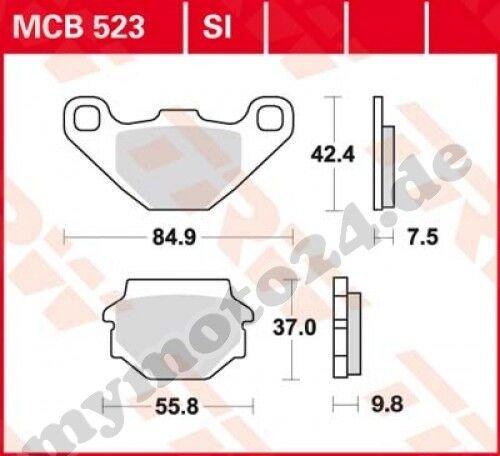 Bremsbelag Suzuki GN125 //E NF41A Bj 1997 TRW Lucas MCB523