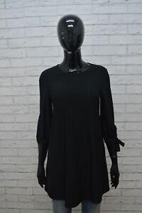 MANGO-BASIC-Donna-XS-Camicetta-Blusa-Nera-Manica-3-4-Maglia-Camicetta-Shirt-Top