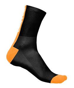 Castelli LOWBOY Low Cuff Cycling Bicycling Socks BLACK//WHITE One Pair