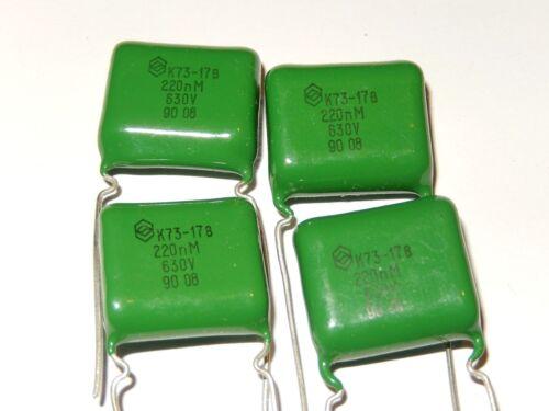 Lot of 20 NOS. K73-17 0.22uF 630V PETP Capacitors