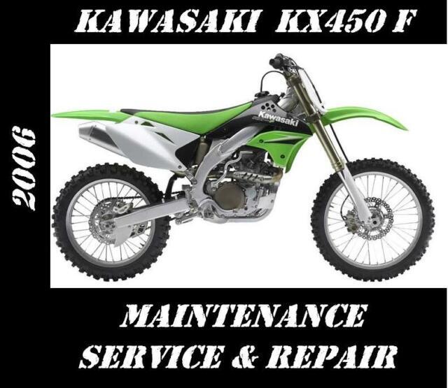 Kawasaki Kx450 Kx 450 Service Repair Manual 2006