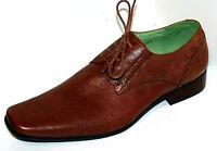 Chaussures De Ville Homme 44 Uk10 Cuir Marron Camel Cérémonie Front Neuf