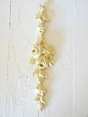 FURNITURE ARCHITECTURAL APPLIQUE ROSE DROP-WOOD & RESIN-STAINABLE-PAINTABLE-NEW
