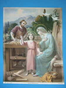 Catholic-Print-Picture-Large-HOLY-FAMILY-at-Nazareth-13x17-034-ready-to-frame