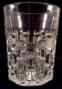 Cut Log Tumbler Water Clear Pattern Glass Bryce Higbee 1889 Ethol Drinking EAPG