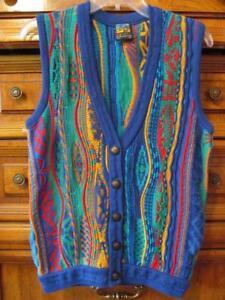 Emaroo Australia Mens Multicolor V Neck Button Down Sweater Vest