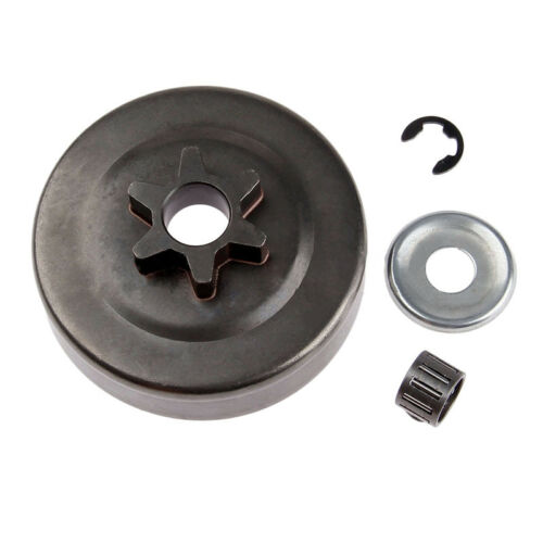 Chainsaw Clutch Drum Sprocket 3//8 6T Washer E-Clip Kit for STIHL MS170 180 250