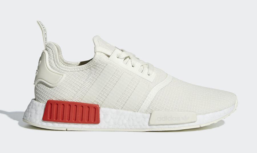 les les les nouvelles chaussures adidas originaux (b37619 nmd r1) blancs / blancs lush rouge | Outlet  4e6147