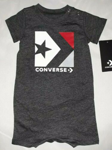 Converse Baby Boy 6M 6 Month Gray Romper Coverall