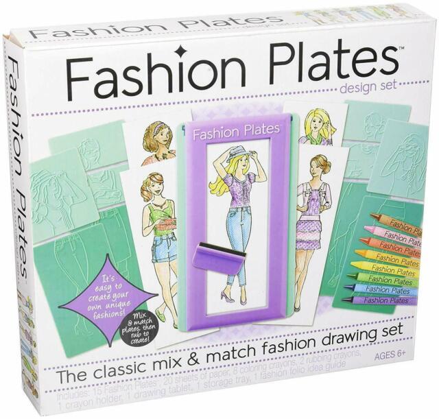 Fashion Plates Deluxe Design Set Kahootz Mix Match Clothing For Sale Online Ebay