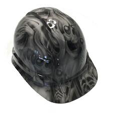 Hydro Dipped Hard Hat Ridgeline Cap Style Custom Light Gray No Evil Skulls