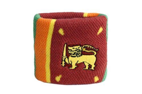 7x8cm Armband für Sport Schweißband Fahne Flagge Sri Lanka 2er Set