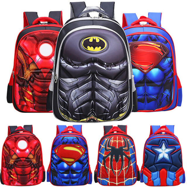 Marvel Spiderman Kid Bag Children Boy School Backpack Spider-Man 3D Rucksack New