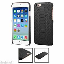 For Apple iPhone 6s/6 Black Snake Skin Executive Case Cover