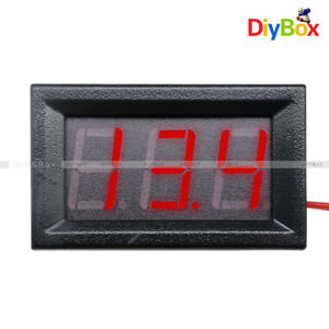 "0.56"" DC4.5-30V Voltmeter LED Panel Three Digital Display Volt Voltage Meter Red"