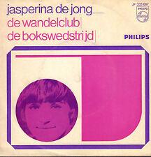 """JASPERINA DE JONG – De Wandelclub / De Bokswedstrijd (1967 VINYL SINGLE 7"""")"""