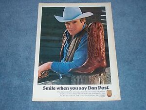 1981-Dan-Post-Vintage-Leather-Cowboy-Boots-Ad-034-Smile-When-You-Say-Dan-Post-034