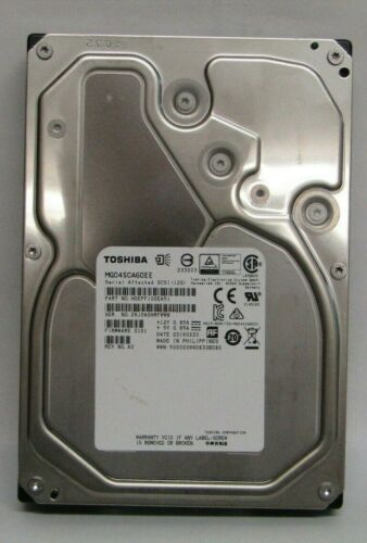 Toshiba MG04SCA60EE 6TB 3.5 SAS 12Gb//s 7.2K RPM 12GBPS SAS 512E 128MB 4KN new