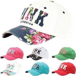 4cb99c1612 B82 Flower PINK Sexy Women Girl Cute Lady Design Ball Cap Baseball ...