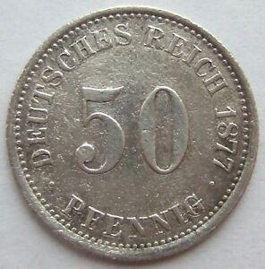 TOP-50-Pfennig-1877-J-in-SEHR-SCHON-SEHR-SELTEN