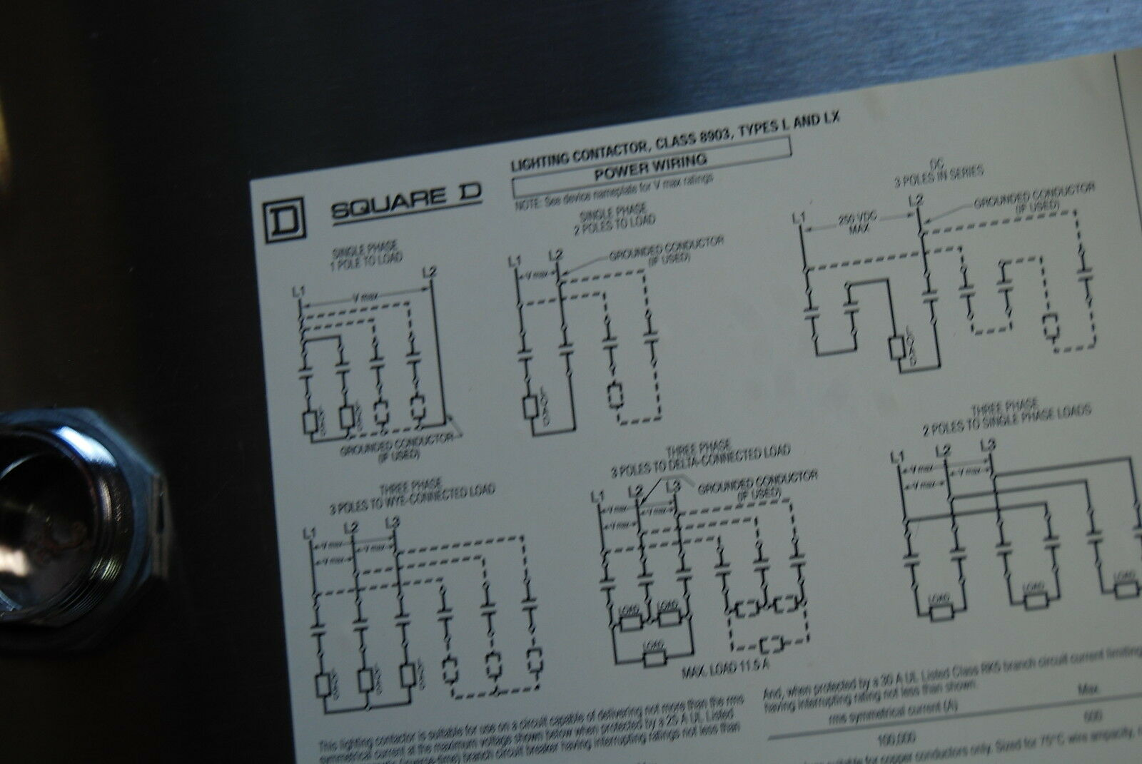 Square D Class 8903 Smg12 30 Amp 4 Pole Mechanically Held Lighting Contactor For Sale Online Ebay
